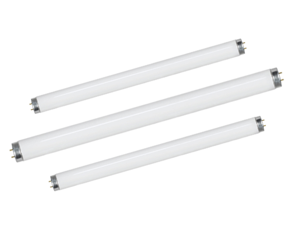 Double capped fluorescent lamps